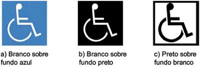 Simbolo acessibilidade para cadeirantes