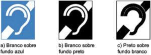 símbolo deficiente auditivo