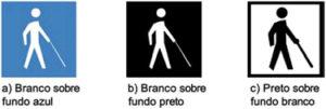 símbolo deficiente visual